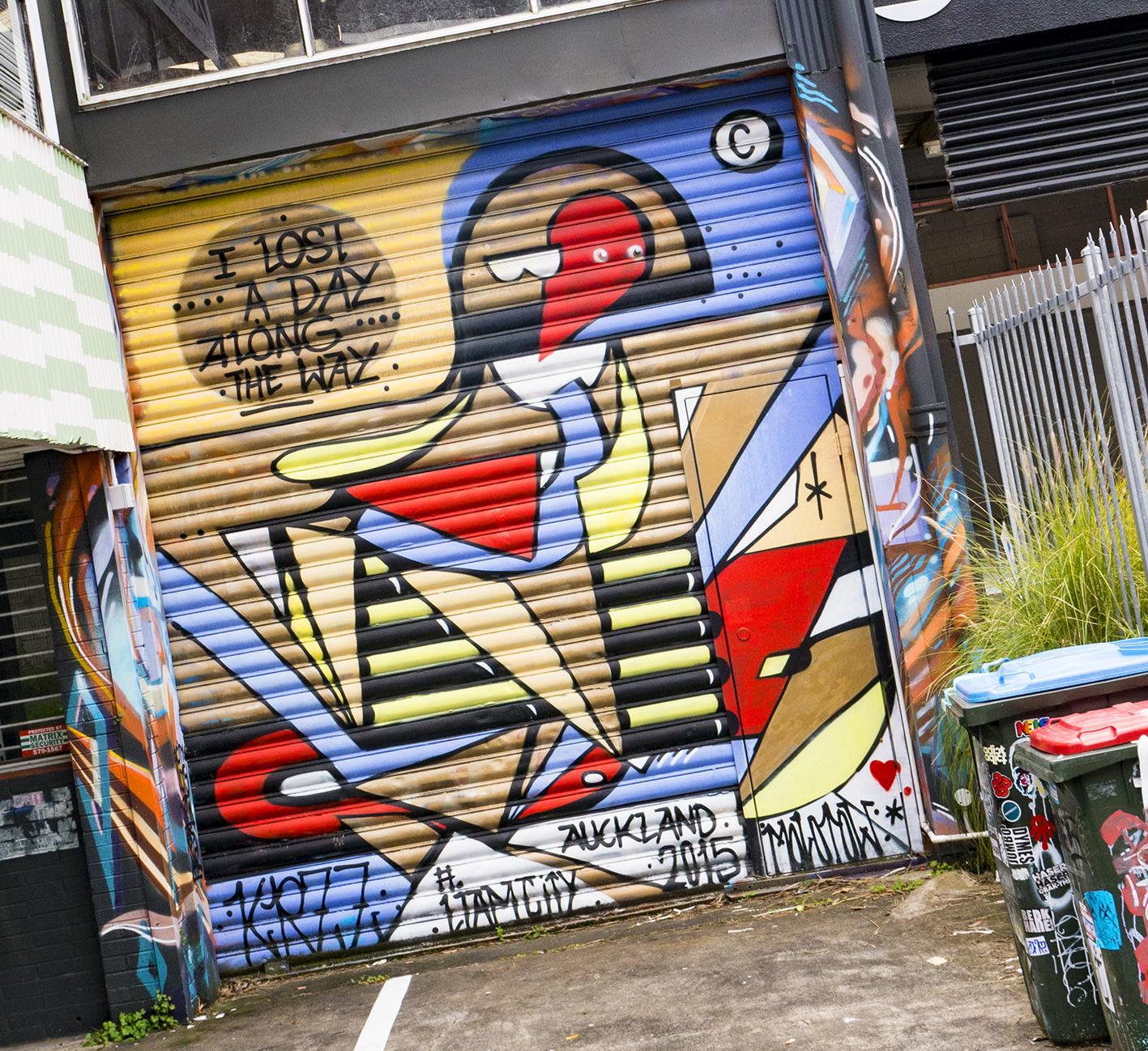 roller door street art